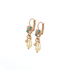 Mariana Square Cluster Leverback Earrings in Happiness