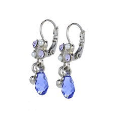 Mariana Square Cluster Leverback Earrings in Romance