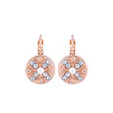 Mariana Round Wallflower Leverback Earrings in Earl Grey