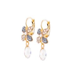 Mariana Wallflower Leverback Earrings in Earl Grey
