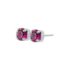 Mariana Petite Everyday Stud Earrings in Fuchsia Rhodium