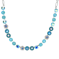 Mariana Lovable Mixed Element Necklace in Tranquil Rhodium