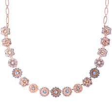 Mariana Extra Luxurious Rosette Necklace in Earl Grey