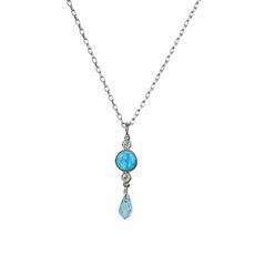 Mariana Petite Blue Opal Pendant Italian Ice