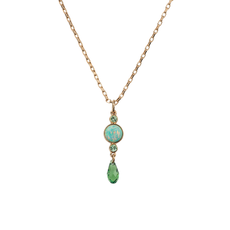 Mariana Petite Green Opal Pendant Fern