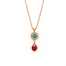 Mariana Flower Dangle Pendant in Happiness Turquoise