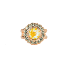 Mariana Cluster Disc Adjustable Ring in Painted Lady