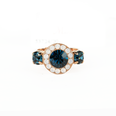Mariana Lovable Pave Ring in Blue Morpho