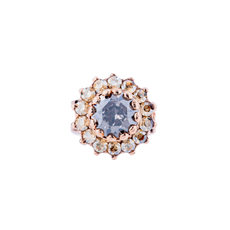 Mariana Must Have Rosette Ring in Earl Grey