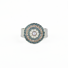 Mariana Large Pave Ring in Blue Morpho