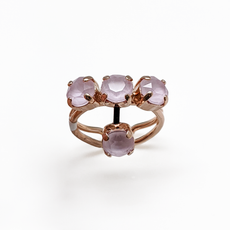 Mariana Petite Four Stone Adjustable Ring in Sun Kissed Rose