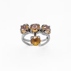 Mariana Petite Four Stone Adjustable Ring in Sun Kissed Horizon