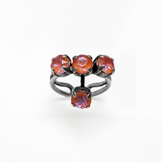 Mariana Petite Four Stone Adjustable Ring in Sun Kissed Sunset
