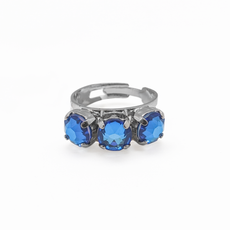 Mariana Petite Three Stone Adjustable Ring in Sun Kissed Capri