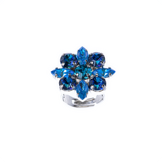 Mariana Marquise and Round Adjustable Ring in Sleepytime