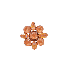 Mariana Marquise and Round Adjustable Ring Sun Kissed Peach