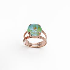 Mariana Lovable Single Stone Adjustable Ring in Sun Kissed Peridot