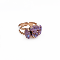 Mariana Marquise and Round Adjustable Ring in Sun Kissed Lavender