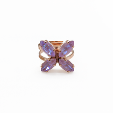 Mariana Marquise Cross Adjustable Ring in Sun Kissed Lavender