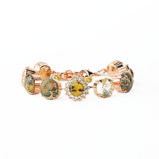 Mariana Extra Luxurious Cluster Bracelet in Meadow Brown