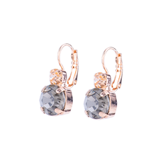 Mariana Double Stone Leverback Earrings in Earl Grey
