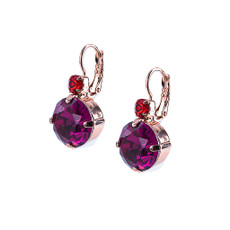 Mariana Extra Luxurious Leverback Earrings in Hibiscus