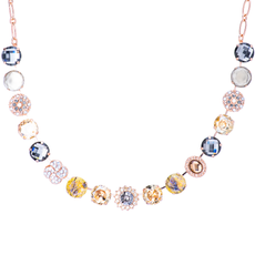 Mariana Extra Luxurious Cluster Necklace in Earl Grey
