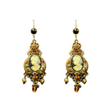 Michal Negrin Victorian french wire Crystal Earrings