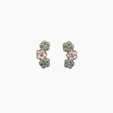 Michal Negrin Jewelry 3 Flowers Post Earrings