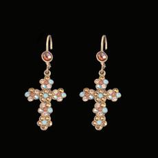 Michal Negrin Cross Hook Earrings