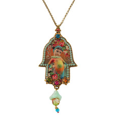 Jewish Hamsa Necklace By Michal Negrin - Multi Color