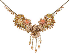 Michal Negrin Jewelry Roses And Flowers Necklace - Multi Color
