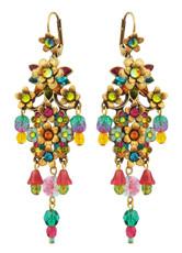 Michal Negrin Jewelry Crystal Flower Hook Earrings - 100-098921-108 - One Left