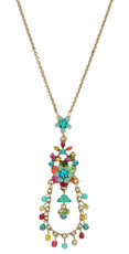Michal Negrin Jewelry Flower Necklace - Multi Color