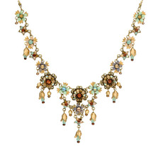 Michal Negrin Jewelry Flowers Crystal Necklace - 100-106100-042 - Multi Color