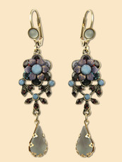 Michal Negrin Jewelry Flower Hook Earrings With Tear Drop - 100-106241-099 - Multi Color