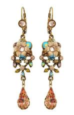 Michal Negrin Jewelry Flower Hook Earrings With Tear Drop - 100-106241-144 - Multi Color