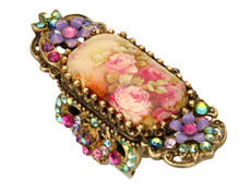 Michal Negrin Jewelry Antique Look Hook Adjustable Ring - Multi Color