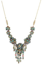 Michal Negrin Jewelry Crystal Flowers Necklace - 100-106580-030 - Multi Color