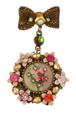 Michal Negrin Jewelry Victorian Pin - Multi Color