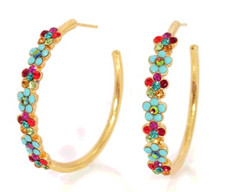Michal Negrin Jewelry Gold Coating Earring - Multi Color