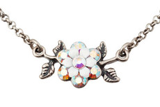 Michal Negrin Jewelry Silver Flower Necklace - 110-022610-001 - Multi Color