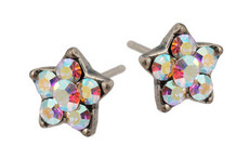 Michal Negrin Jewelry Silver Post Star Earrings - Multi Color
