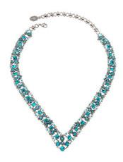 Michal Negrin Jewelry Silver V Necklace - Multi Color