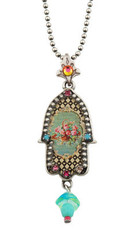 Michal Negrin Silver Small Hamsa Necklace - One Left