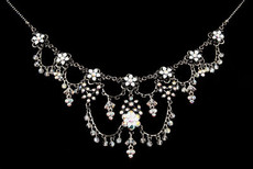 Michal Negrin Jewelry Silver Crystal Flower Necklace - 110-101250-001 - Multi Color