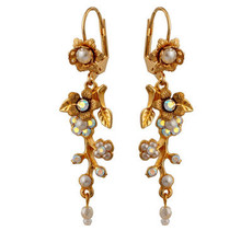Michal Negrin Jewelry Crystal Flower Hook Earrings - 120-106211-042 - Multi Color