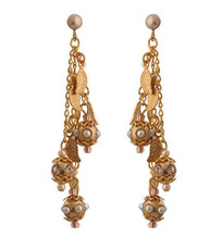 Michal Negrin Jewelry Gold Leaves Earrings - Multi Color