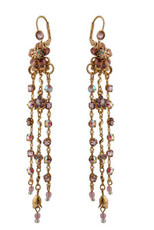 Michal Negrin Jewelry Crystal Flower Hook Earrings - 120-112351-042 - Multi Color