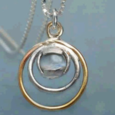 Kabbalah Golden And Silver Circle Pendant